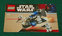 LEGO 7667 - Star Wars: Imperial Dropship - INSTRUCTION MANUAL
