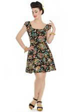 Hell Bunny Monte Carlo Palm Pinup Pin Up Vintage Retro 50s Rockabilly Mini Dress
