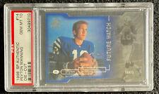 1998 SP Authentic Peyton Manning PSA 10 #14 Die Cut Rookie Card 064/500 Pop 23