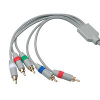 6FT HD TV Component RCA Audio Video AV Cable Cord Plug for Nintendo Wii U Wii