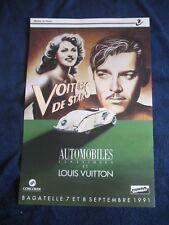 affiche automobile poster louis vuitton RAZZIA 1991 cars original speed car