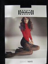 RARE Wolford Serail Tights S, black ... Spitzenstrumpfhose m nostalgischem Flair
