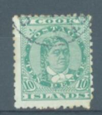 Cook Islands 1893 10d perf 12 x 11 1/2 sg.10 used