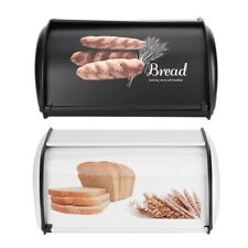 Practical Stainless Steel Bread Box Holder Bin Container Kitchen Storage Case