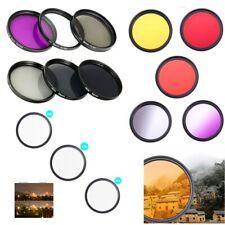 37 43 46 49 52 55 58 67 72 77 82mm DSLR Camera Lens Filter UV ND FLD Star Color