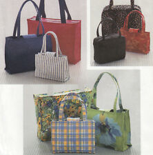 Handbags Purses and Large Tote Bag in Two or Three Sizes UNCUT Sewing Pattern