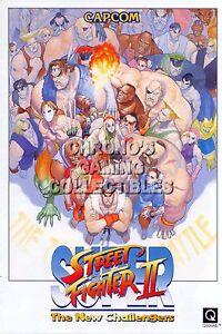 RGC Huge Poster - Super Street Fighter II New Challengers Arcade SENS - ARC051