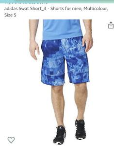 Adidas Swat Short, BNWT, Sample, Mens, Sz M, Blue, Breathable, Clima,