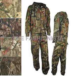 MENS JUNGLE TREE CAMOUFLAGE TRACKSUIT BOTTOMS AND HOODIE SET SIZE M-XXL