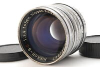 【EXC+3】 Nikon Nikkor S.C 50mm f1.4 For LTM L39 Leica Screw Mount from JAPAN 916