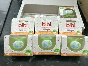 6 x bibi natural silicone soothers/nugi 0 to 2 months + bulkbuy offers
