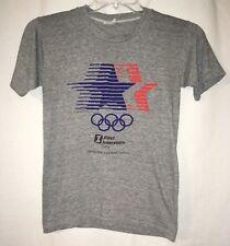 6ab06391934 Vintage 1984 Los Angeles Olympics Soft Thin Small Gray Race T-Shirt  Brentwood OJ