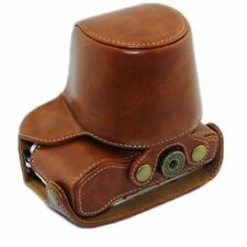 New Olympus PEN E-PL7 PU Leather Camera Case Bag Cover 14-42mm Lens Strap Brown