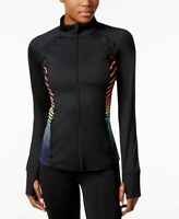 Ideology Womens Performance Zip Training Jacket Noir
