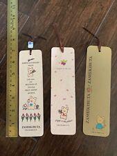 3 New Zashikibuta Pig Book markers Hello Kitty Sanrio