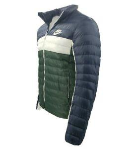 Men's Nike Puffer Jacket Synthetic Filled BV4685-451 Blue White Green $160
