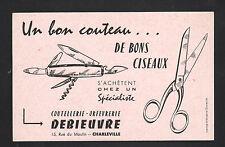 """CHARLEVILLE (08) Buvard / COUTEAU & CISEAUX """"COUTELLERIE ORFEVRERIE DEBIEUVRE"""""""