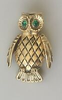 Vintage  Owl  brooch in enamel on Metal