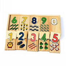 Wooden Jigsaw Peg Puzzle Board Toy, Number Educational Puzzles For Math YU