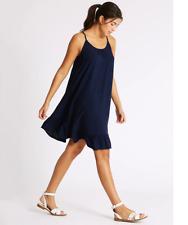BNWT M&S Collection Beachwear Navy Strappy Beach Knee Length Dress Size 18