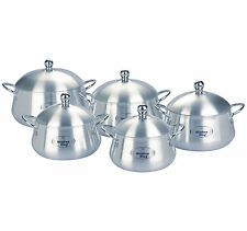 COOKING DISH POT SET ALUMINIUM CASSEROLE SET COOKING PAN SAUCEPAN STOCKPOT SET