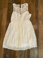 Forever 21 White Lace Top Dress size M