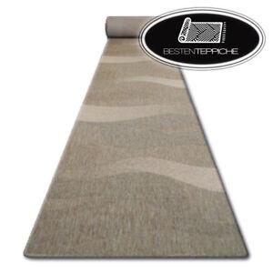 Modern Runner Sisal Floorlux Waves Coffee Beige Width 70 - 120 CM Fashionable