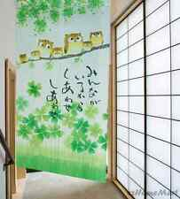 Japanese Noren House Doorway Curtain with Happiness Owl Family Pattern C0523