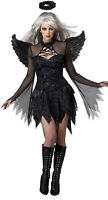 Women's fallen Angel Cosplay Dress+Wings Perform Costumes Halloween fancy dress