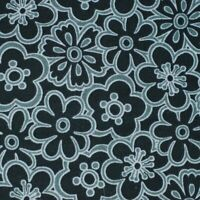 Fabric Traditions Black and Gray Floral Cotton Fabric BTY
