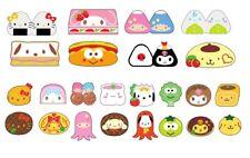 Sanrio Hello Kitty Purin 5pc Random Japan Bento Lunch Foods Die Cut Eraser Set
