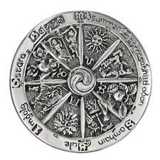 WHEEL of THE YEAR Brooch .925 Sterling Silver - Dryad Design Cloak Pin Brooch