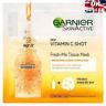 Garnier Fresh-Mix Face Shot Sheet Tissue Mask with Vitamin C Brighten &Even Skin