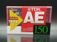 TDK AE 150 Blank Audio Cassette Tape Type I Normal Position Japan RARE!