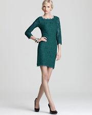 Diane von Furstenberg Deep Teal Lace Zarita Dress $348 NWT 14