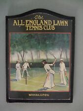 The All-England Lawn Tennis  - Antique Wall Plaque by Dave Jacobs  ..  RARE ITEM
