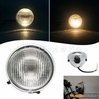 Vintage Chrome Bates Headlight Front Lamp For HONDA CB100 CB125 CG125 Cafe Racer