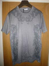 BNWT Versace Collection Men's Grey V Neck Detail T-Shirt Size XL Italian Made