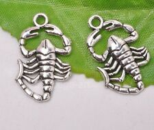 10pcs Tibetan silver Double sided scorpion beads necklace pendant 25x15mm A3157