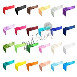 12 X 108 inch Satin Table Runner Wedding Party Banquet Decoration For 24 Colors