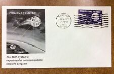 {BJ Stamps} 1962 BELL System's Project Telstar satellite  cover, Maine July 10