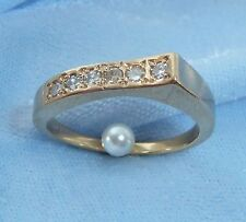 14K Yellow Gold Band, 6, 2.25mm Diamonds, TCW .36 carat, Size 7