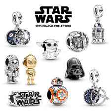 More details for new! star wars movie fan collection genuine 925 silver bracelet charm & gift bag