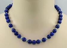 Lapislazulikette - blauer Lapislazuli mit Aquamarin Halskette für Damen 47,5 cm