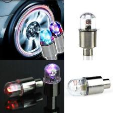 Multi-color de LED Lámpara Flash Coche Bici rueda neumático Vástago de Válvula Tapa Uiniversal Luz