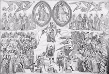 CAMPO SANTO - THE FRESCO of the LAST JUDGEMENT - Engraving from 19th century