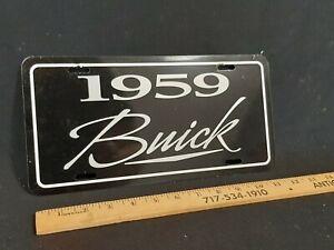 1959 BUICK GM License Plate Filler Backing Insert Frame Metal NO RESERVE