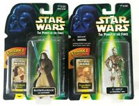 Star Wars Kenner Flashback Photos POTF Obi Wan, C-3PO Figures 1998 Sealed