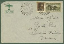 ALBANIA. Occupazione italiana. Lettera aerea del 15.9.1939 da Tirana a Modena.
