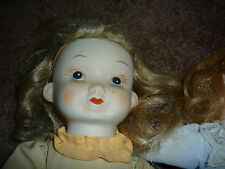 Vintage Doll Lot 2 Cloth with Bisque Hands and Heads and More!